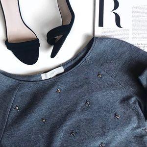 Loft Jewel Embellished Sweatshirt